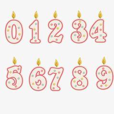 Číslo svíčky, svíčky, krásné svíčky PNG a PSD