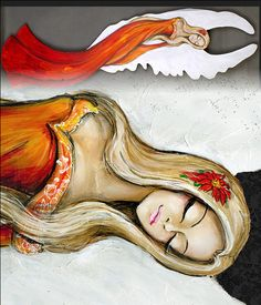 anioły ręcznie malowane - Google Search