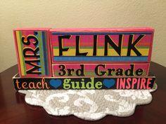 Teachers wood block set! Join Kreations  by Moonlight Facebook group