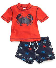 Carter's Baby Boys' 2-Piece Crab Rashguard & Swim Shorts Set - Kids Baby Boy (0-24 months) - Macy's