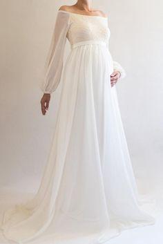 fd7bd9b5aa6 ANNABELLE Bohemian Wedding Maternity Gown
