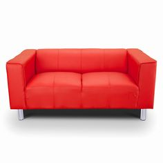 Tips That Help You Get The Best Leather Sofa Deal. Leather sofas and leather couch sets are available in a diversity of colors and styles. A leather couch is the ideal way to improve a space's design and th Faux Leather Sofa, Comfy Sofa, Red Sofa, 2 Seater Sofa, Design Your Home, Fabric Sofa, Modern Sofa, Space Saving, Love Seat