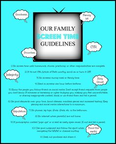 """Raising a family today can be tough, so with the use of media in mind, consider these guidelines (Remembering """"We believe in being honest, true, chaste, benevolent, virtuous, and in doing good to all men; …If there is anything virtuous, lovely, or of good report or praiseworthy, we seek after these things."""" http://lds.org/scriptures/pgp/a-of-f/1.13#12)."""
