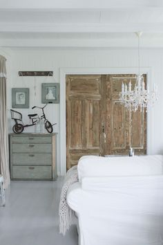 doors .... I want to replace my double doors with two rustic doors!