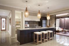 Orbit Homes Kitchen and outdoor living area