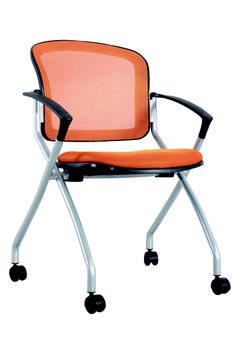 2014 New design Hot selling simplicity Mesh office meeting folding chair