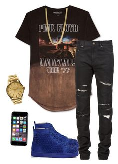 """""""Simply stylish"""" by highfashionista4life on Polyvore featuring Hybrid, Yves Saint Laurent, Christian Louboutin, Nixon, Off-White, men's fashion and menswear"""