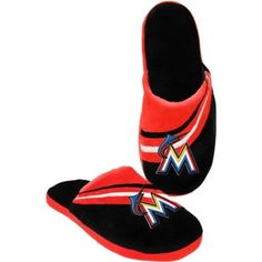 4254e764f8ae Compare prices on Miami Marlins Slippers from top online fan gear  retailers. Save money when buying slippers and sports team logo footwear.