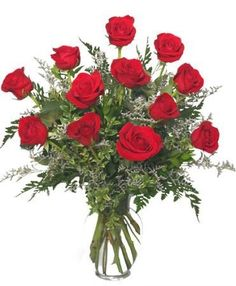 """Let Erin Mills Florist deliver a beautiful surprise for your loved one today!!  This classic dozen red roses design is an elegant and perfect way to say, """"I love you.""""  Call our shop or order online www.erinmillsflorist.com  Receive $5 off your purchase this week using Coupon Code ROSES  Offer valid for any dozen or more roses bouquet or arrangement"""