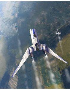Rogue one U-wing (combination gunship / troop transport)