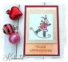 Weihnachtskarte stempeln Motivstempel www.kreativzauber.de