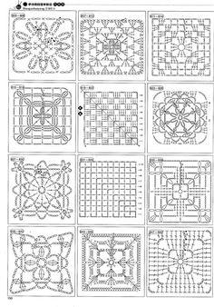 A lot of crochet patterns