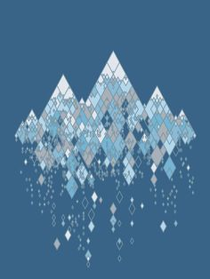 Clever!  I love the way the diamond shape captures so much of the essence of snow and ice.