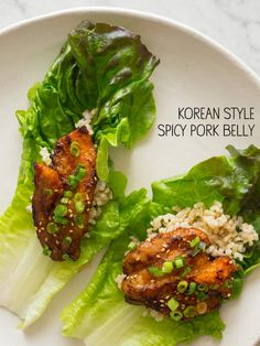 This Korean Style Spicy Pork Belly looks delicious