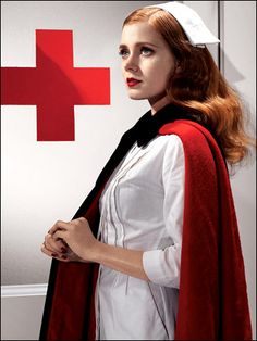Amy Adams Heroine Chic photoshoot: WWII nurse