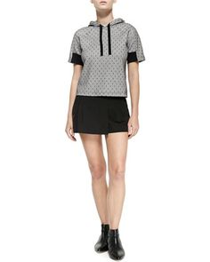 Two-Button Mini Skort by RED Valentino at Bergdorf Goodman.