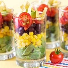 photo credit: Pizzazzerie shot glass salad, grazing table idea