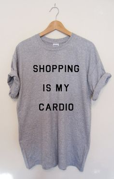 SHOPPING is MY CARDIO T-shirt Ladies Unisex Sizes The Mindy Project Screen Printed, Worldwide Shipping