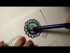 Gem Drawing, Drawing Tips, Video Gems, Zentangle Patterns, Zentangles, Doodle Art Designs, Colored Pencil Techniques, Doodle Inspiration, Coloring Tutorial
