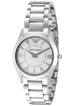 Price:$179.40 #watches Emporio Armani AR8021, This chic Emporio Armani never goes out of style. With its stainless steel and modern design, this timepiece will always make a scene where ever you go. Out Of Style, Emporio Armani, Michael Kors Watch, Chronograph, Buy Now, Going Out, Modern Design, Armani Women, Stainless Steel