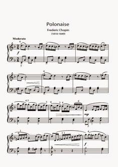 Adriano Dozol - Dicas, Partituras Grátis e Vídeos - Teclado   Piano: Polonaise - Frederic Chopin - Partitura facilitada para Piano