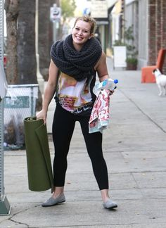 Hilary Duff | 43 Celebrities Who Swear By Yoga | Loved and pinned by www.downdogboutique.com