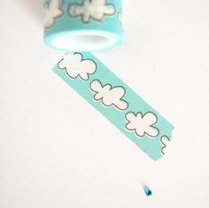 Washi | White Clouds on Blue