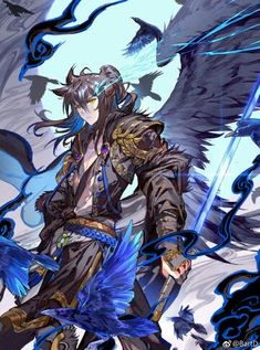 Fantasy Character Design, Character Art, Evil Angel, Angel Warrior, Dragon King, Anime People, Fantastic Art, Art Background, Illustrations And Posters