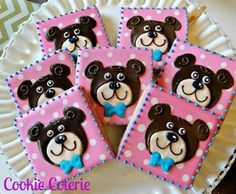 Cookies I ordered on Etsy for Hayley's Build A Bear birthday party.  Adorable!!