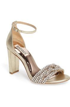 BADGLEY MISCHKA Tessa Crystal Embellished Sandal (Women). #badgleymischka #shoes #sandals
