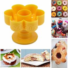 Maker Cake Dessert Doughnut Quincunx Decor Mold Cutter Kitchen Tool Gadget Mould >>> You can find out more details at the link of the image.
