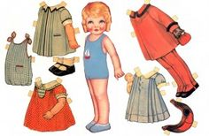 Vintage paper doll images from Sugarsticks Parties; free