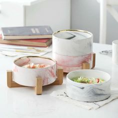 This Marble Serving Bowl was carefully designed to make eating more fun and effective. Made of quality ceramic and complete with a marble finish, you'll feel classy enjoying a cup of soup or fresh salad. Ceramic Tableware, Ceramic Bowls, Ceramic Art, Kitchenware, Grey Bowls, Cup Of Soup, Bamboo Shelf, Dessert Bowls, Fruit Dessert