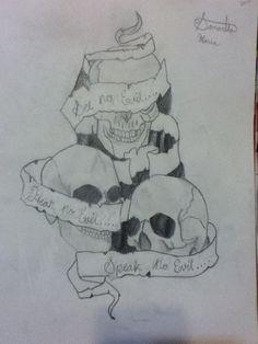 See no evil.. Hear no evil.. Speak no evil. My drawing attempt :p its okay i guess :D
