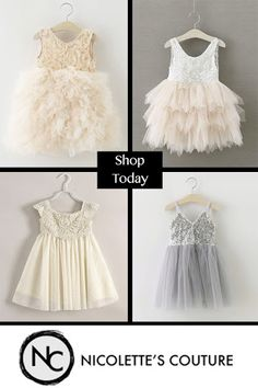 Nicolette's Couture special occasion dresses are perfect for your fancy event including weddings, flower girls, birthdays and first communion. Baby Girl Fashion, Kids Fashion, Couture Fashion, Couture Style, Flower Girl Dresses, Flower Girls, Baby Dresses, Long Dresses, Baby Holiday Dresses