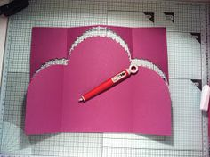 Crafty Diva Cards: Curved Top Gatefold Thank You Card