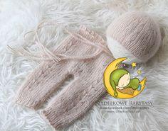 Bella set  angora yarn  newborn photo props by MyLittleRarities