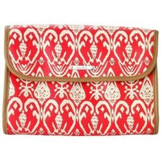 STELLA AND DOT Jewelry/Makeup Case Stella and Dot jewelry and makeup case in red ikat- amazing case for travel - has barely been used Stella & Dot Bags Cosmetic Bags & Cases
