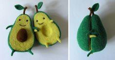 Avocado Love: Wool Sculpture By Ukrainian Artist Anna Dovgan | Bored Panda