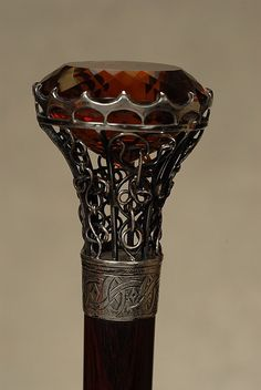 A lovely citrine cane with silver mount - by Tradewinds Antiques