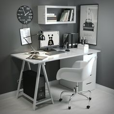 Home Office Furniture: Choosing The Right Computer Desk Home Office Space, Home Office Desks, Office Furniture, Furniture Design, Furniture Storage, Furniture Ideas, Bedroom Furniture, Home Office Table, Trendy Furniture