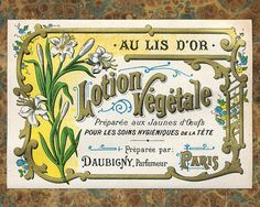 Antique Vintage French Apothecary Perfume Label 15