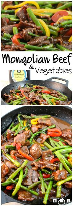 Easy Mongolian Beef & Vegetables - Butter With A Side of Bread #KikkomanCNY ad