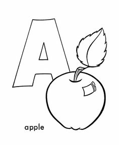 ABC Pre-K Coloring Activity Sheet | Letter A - Apple
