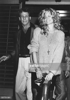 Actors Farrah Fawcett and Ryan O'Neal leaving Nicky Blair's restaurant after attending the birthday party of Tina Sinatra, Los Angeles, circa Get premium, high resolution news photos at Getty Images Ryan O'neal, Farrah Fawcett, Santa Monica, Tina Sinatra, Makeup Tips For Older Women, Kate Jackson, Cheryl Ladd, Hollywood Couples, Princess Caroline