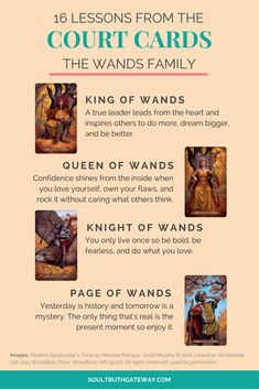 16 Lessons from the Court Cards Part 2: Wands and Court Cards Cheatsheet! | Tarot Learning | Tarot Meanings | Tarot Cheat Sheet | Tarot Minor Arcana | Tarot Court Cards | Tarot Wands #tarot #tarotcardmeaning #soultruthgatewayeway