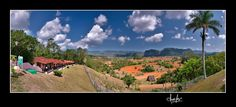 Cuba. Panoramic view of Vinales Valley, bungallows on the left and mountains in background.  To order a Fine Art Reproduction, please, visit: http://fineartamerica.com/featured/vinales-valley-pinar-del-rio-cuba-juan-carlos-ferro-duque.html