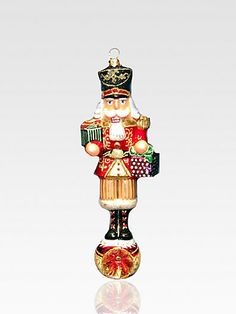 kurt adler polonaise nutcracker glass ornament sakscom