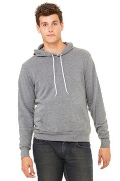 Feel good wearing this Bella+Canvas Poly-Cotton Fleece Pullover Hoodie. Not only because it's comfortable, but also because you didn't spend a fortune on it!