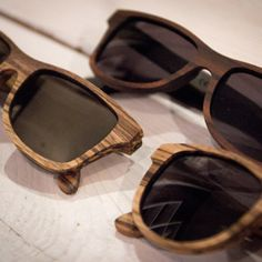 Natural design - wooden sunglasses.